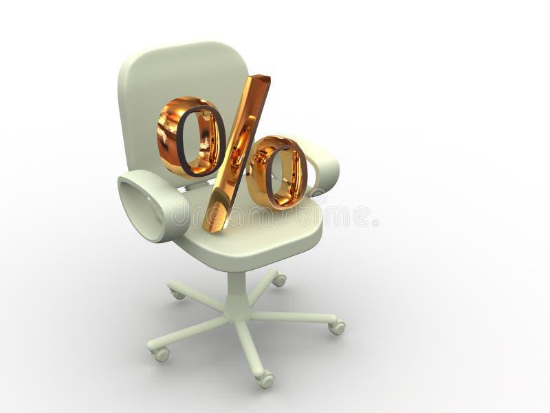 De stoel van het bureau. stock illustratie