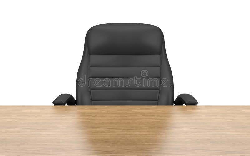 De stoel van het bureau bij lijst royalty-vrije illustratie