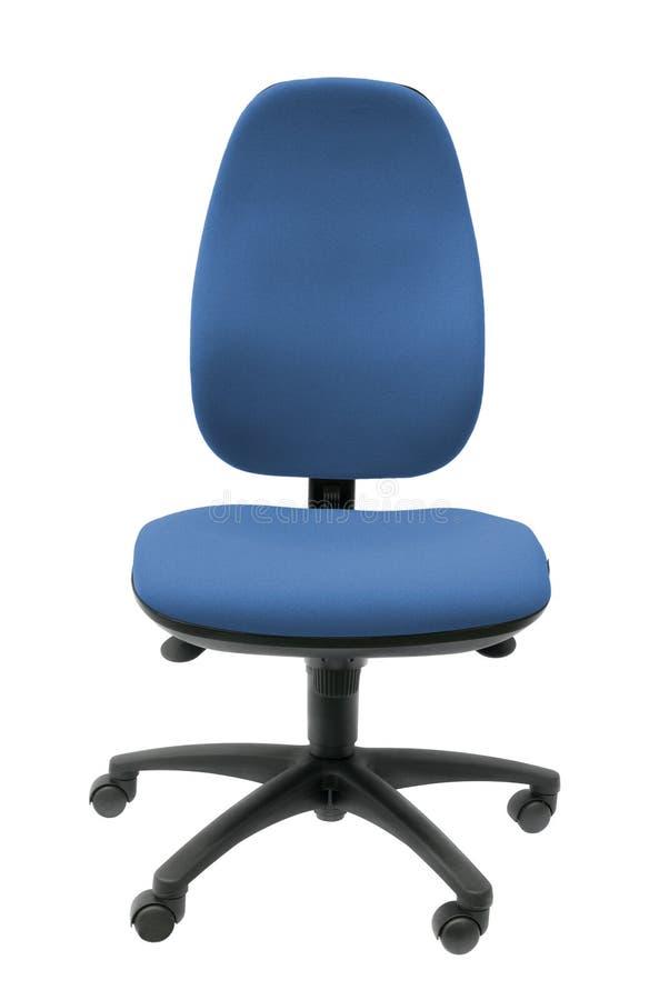 De Stoel van het bureau in Blauw stock fotografie