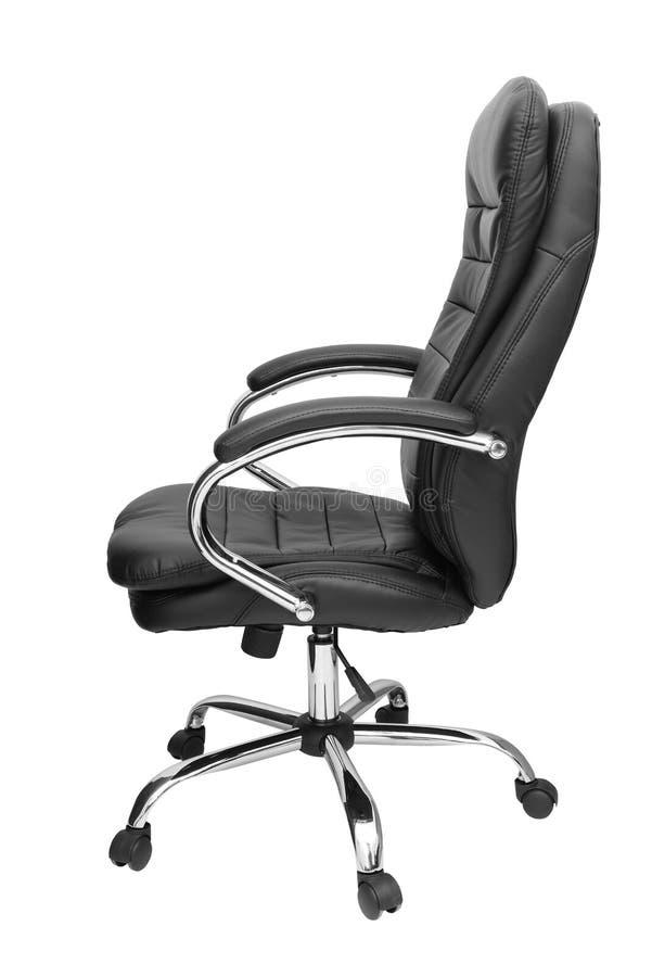 De stoel van het bureau die op wit wordt ge?soleerdn stock fotografie