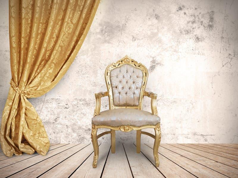 De stoel van succesvol stock foto's