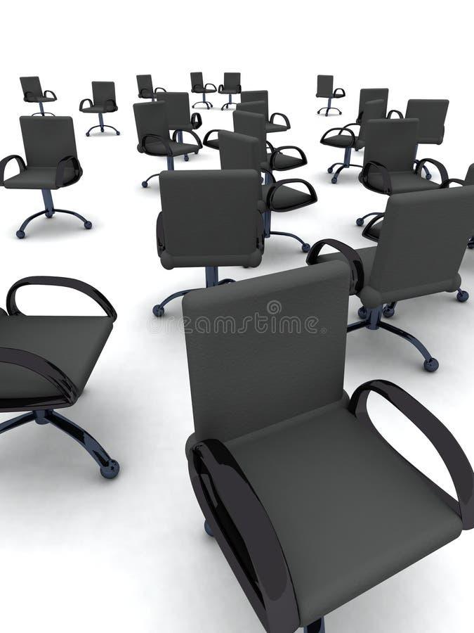 De stoelen van het bureau vector illustratie
