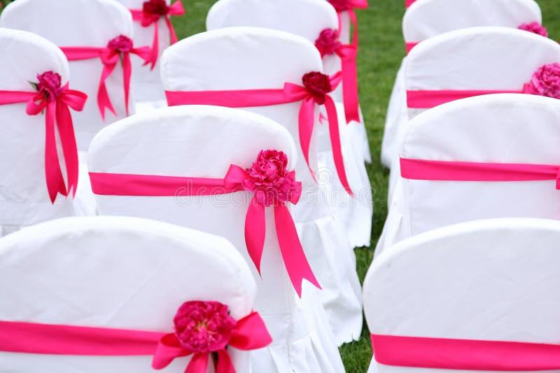 De stoelen van het huwelijk royalty-vrije stock foto