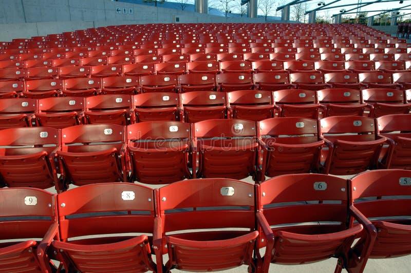De stoelen van het stadion stock foto