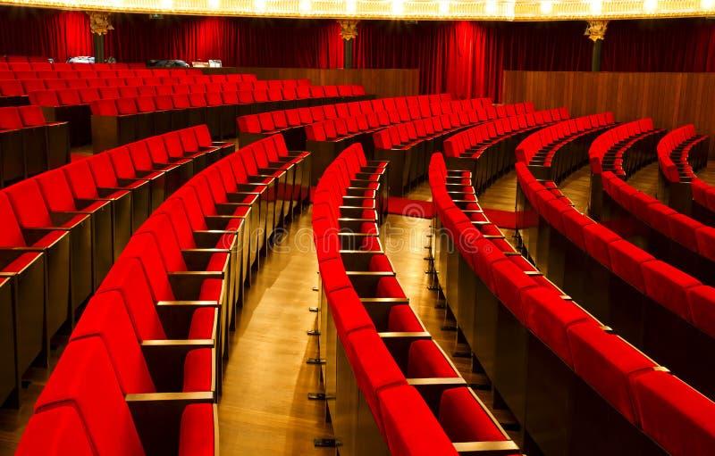 De stoelen van het theater royalty-vrije stock fotografie