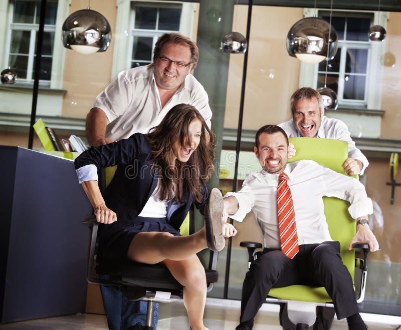 De stoelras van het bureau op het werk. royalty-vrije stock fotografie