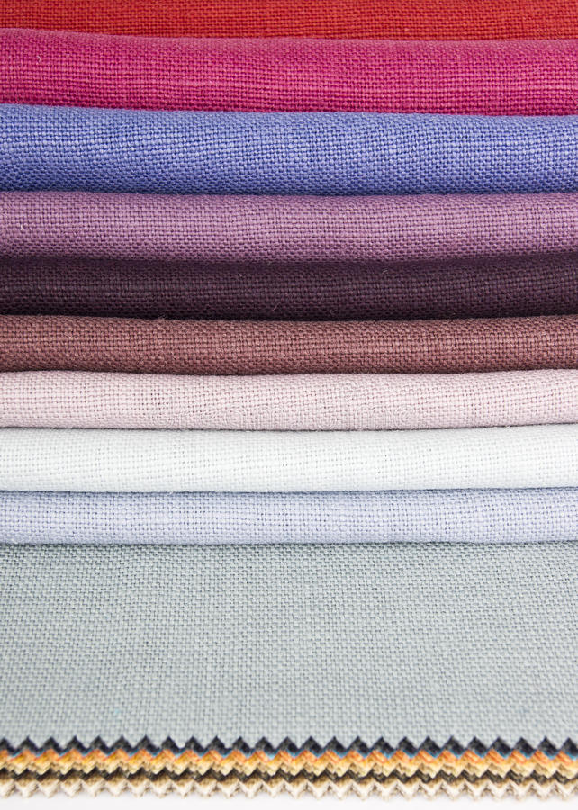 De stoffen van het linnen