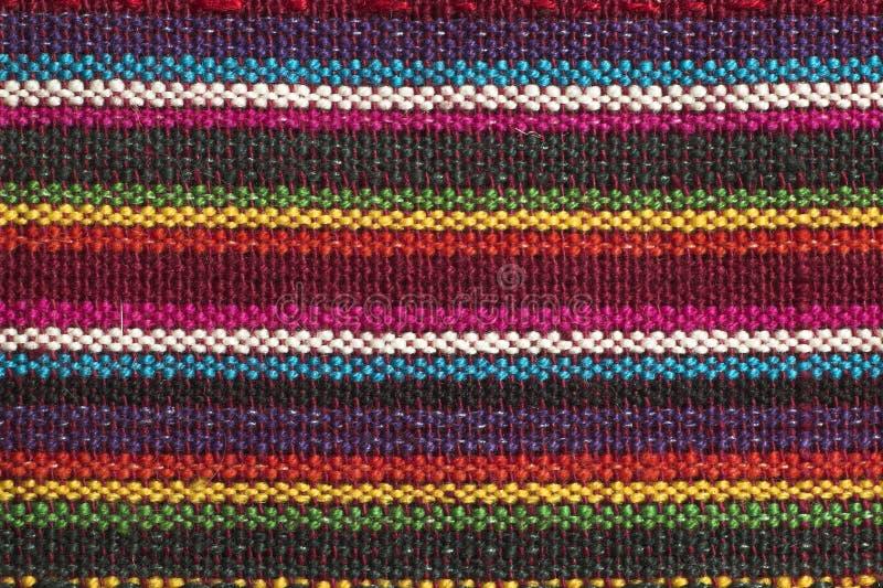 De stoffendetail van de regenboog stock afbeelding