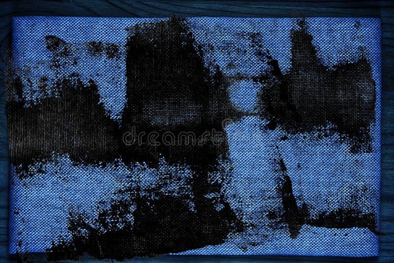 De stoffenoppervlakte van het Grunge ultra blauwe Linnen voor model of ontwerpergebruik, de steekproef van de boekdekking, monste stock fotografie