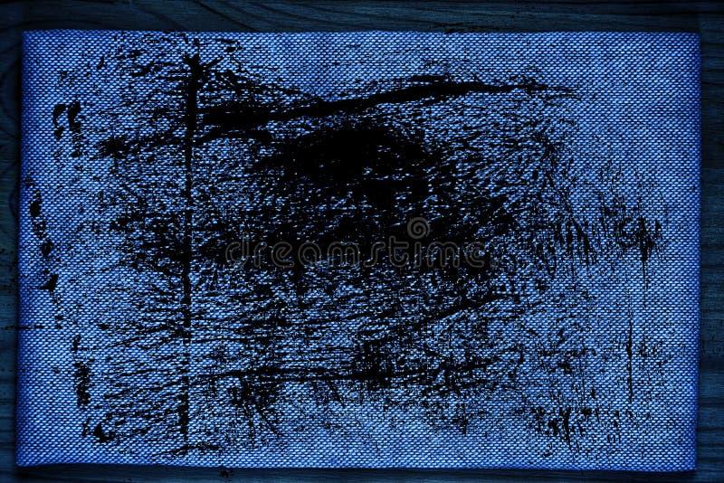 De stoffenoppervlakte van het Grunge ultra blauwe Linnen voor model of ontwerpergebruik, de steekproef van de boekdekking, monste stock foto