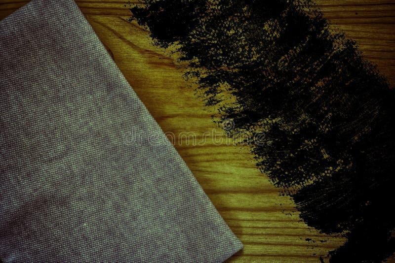 De stoffenoppervlakte van het Grunge Ultra oranje Linnen voor model of ontwerpergebruik, de steekproef van de boekdekking, monste royalty-vrije stock fotografie
