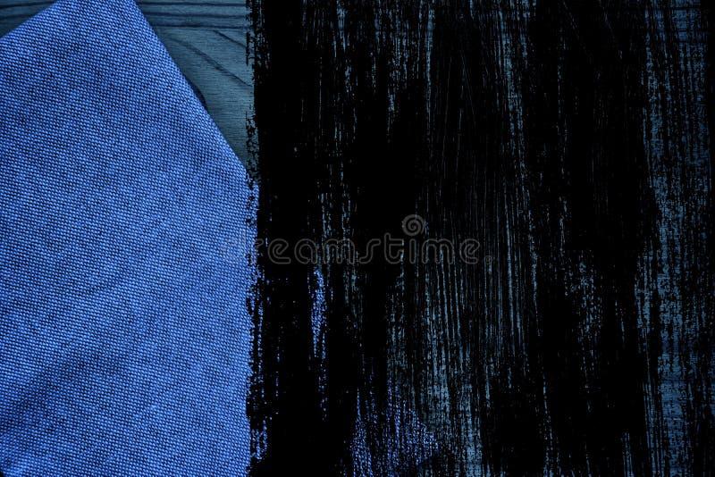 De stoffenoppervlakte van het Grunge vuile ultra blauwe Linnen voor model of ontwerpergebruik, de steekproef van de boekdekking,  royalty-vrije stock fotografie