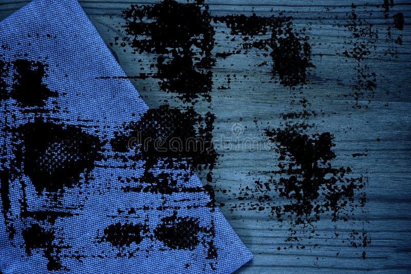 De stoffenoppervlakte van het Grunge vuile ultra blauwe Linnen voor model of ontwerpergebruik, de steekproef van de boekdekking,  stock afbeeldingen