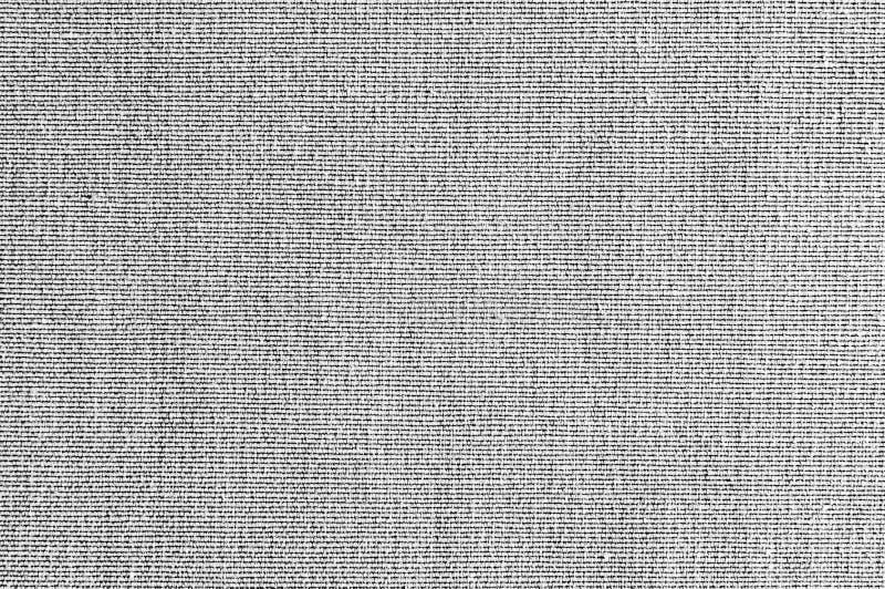 De stoffentextuur van de close-up Grijze, zwart-witte kleur Ontwerp van het de stoffenpatroon van de strooklijn het witte, grijze royalty-vrije stock foto