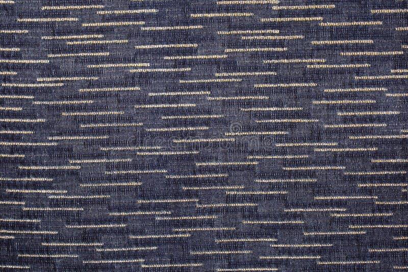 De stoffentextuur van de close-up zwarte of donkere grijze kleur Ontwerp van het de stoffenpatroon van de strooklijn het donkere  royalty-vrije stock foto