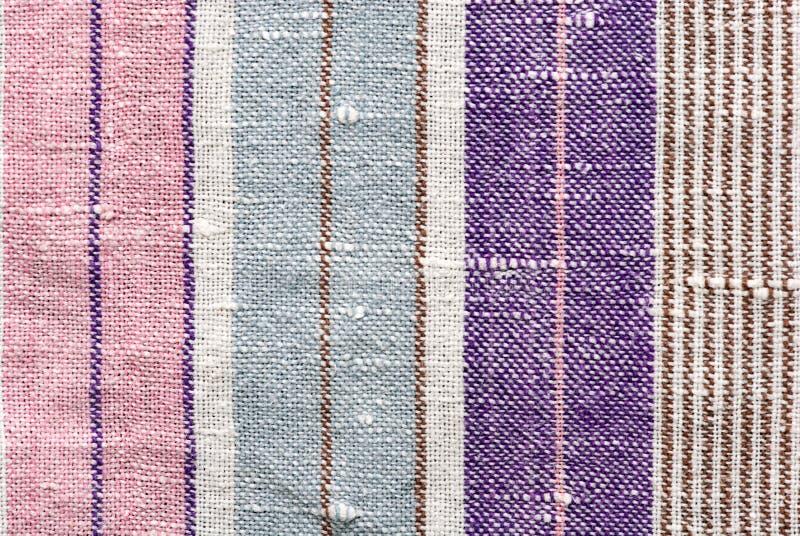 De stoffentextuur van de streep stock afbeelding