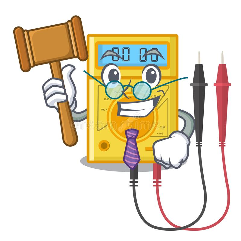 De stokken van de rechters digitale multimeter aan de beeldverhaalmuur vector illustratie