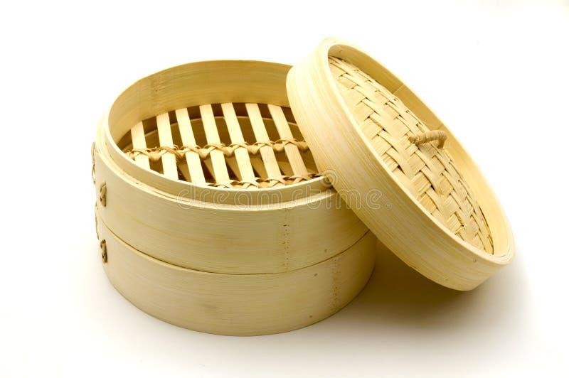 De stoomboot van het bamboe stock fotografie