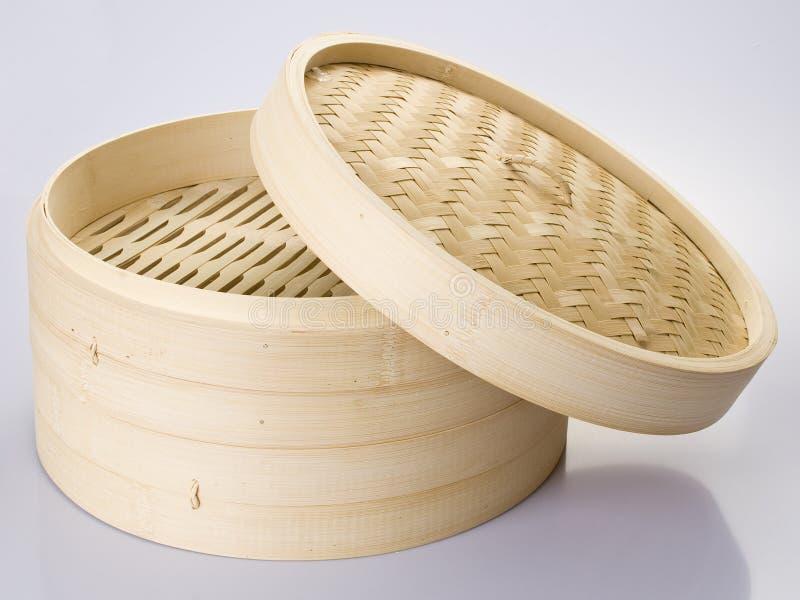 De stoomboot van het bamboe stock foto