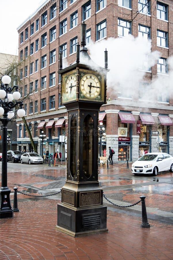 De stoomklok van Vancouver in Gastown stock fotografie