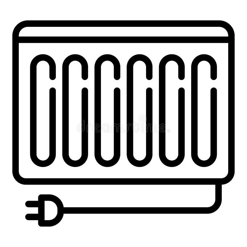 De stoppictogram van de verwarmerradiator, overzichtsstijl stock illustratie