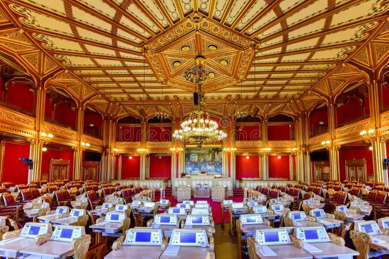 De Stortingsbouw - Oslo, Noorwegen royalty-vrije stock fotografie