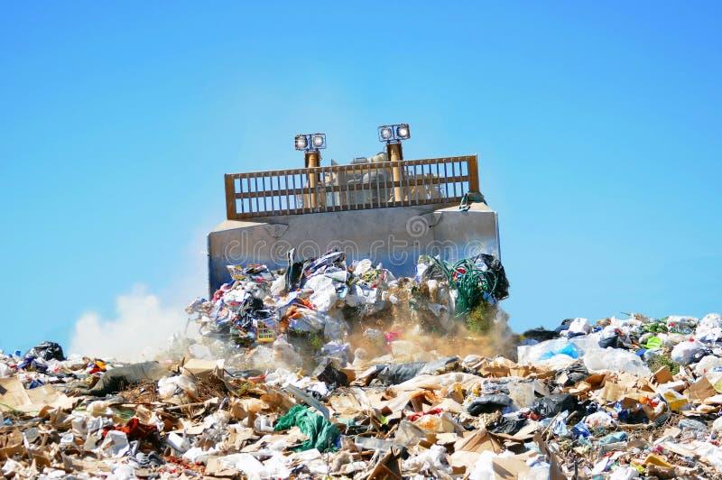 De stortplaats van het afval