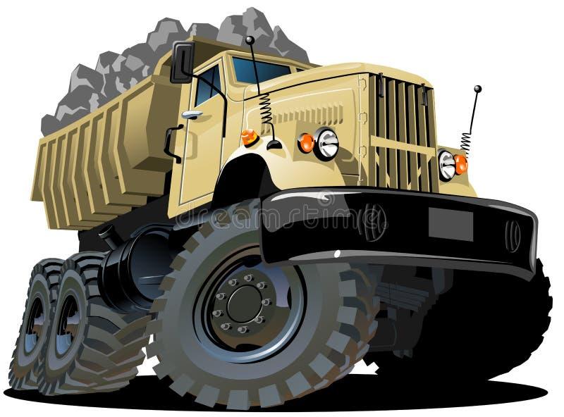 De stortplaatsvrachtwagen van het beeldverhaal stock illustratie