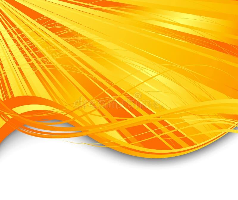 De straal abstracte banner van de zonnestraal royalty-vrije illustratie