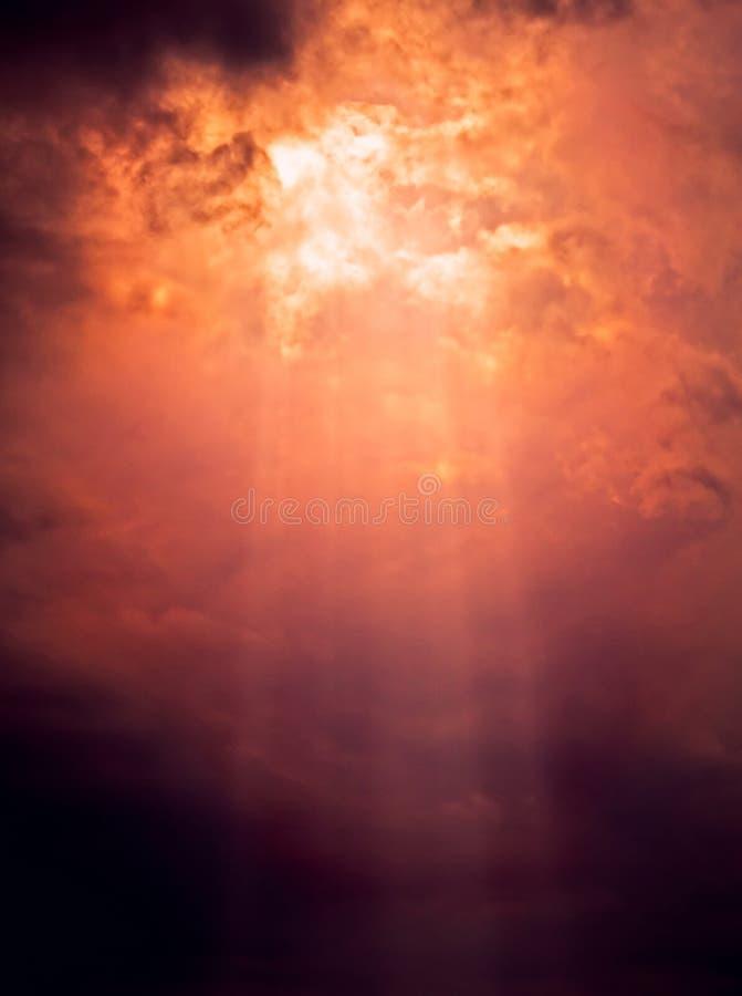 De straal van de zon royalty-vrije stock afbeeldingen