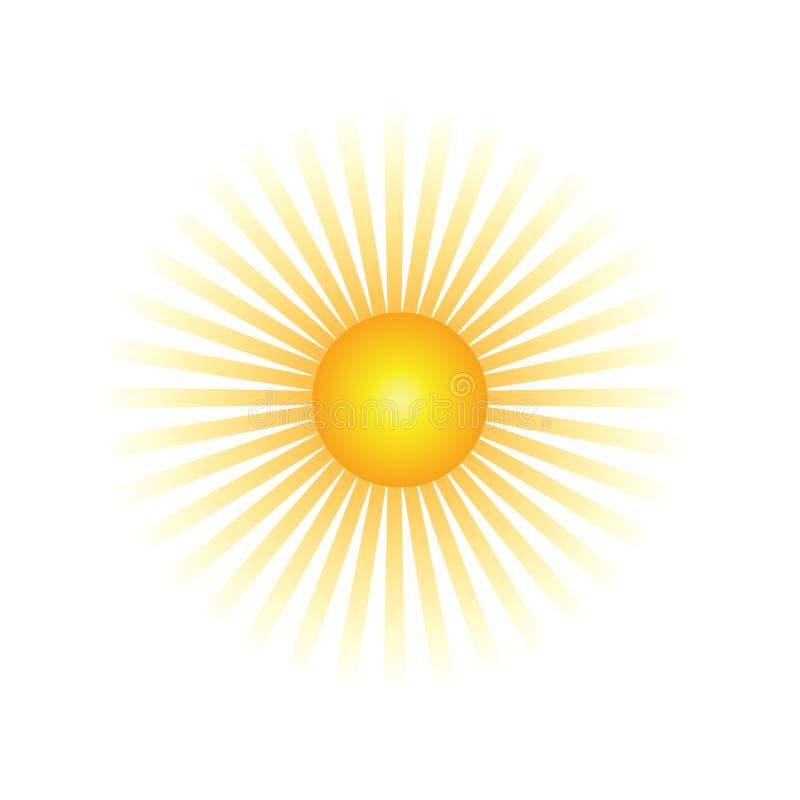De Straal van de zon royalty-vrije illustratie