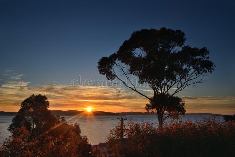 De straal van zonsopgangray stock afbeeldingen