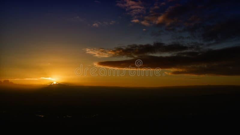De straal van zonsopgangray stock fotografie