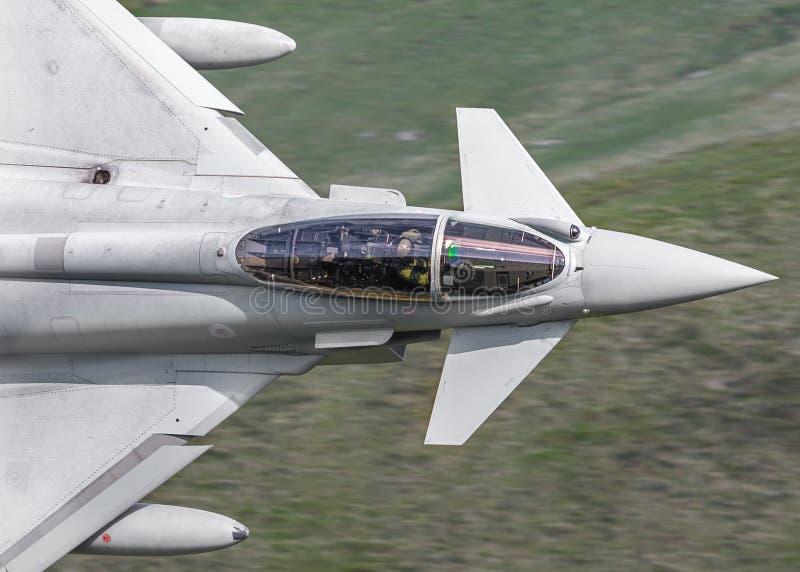 De straalcockpit van Eurofighter Typhoon stock foto
