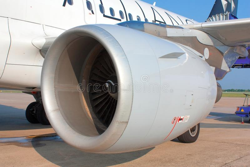 De straalmotor van het vliegtuig stock fotografie
