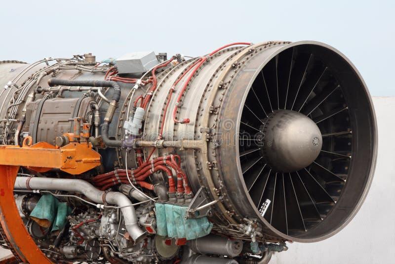 De straalmotordetail van vliegtuigen stock fotografie