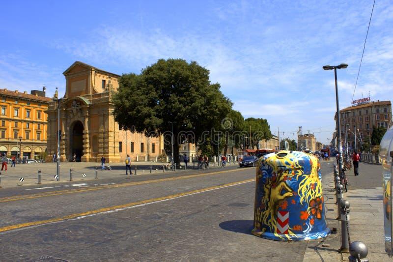 De straat Italië van Bologna royalty-vrije stock afbeeldingen