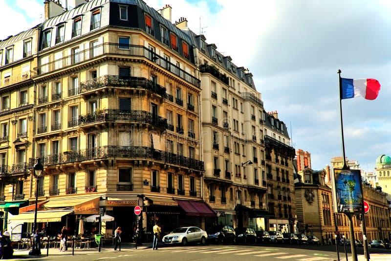 De Straat Latijns Kwart van Parijs stock afbeelding