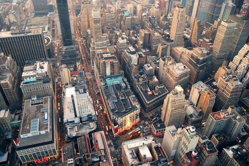De straat luchtmening van de Stad van New York royalty-vrije stock afbeeldingen