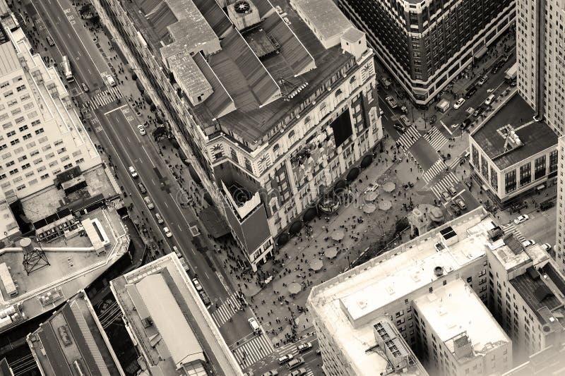 De straat luchtmening van Manhattan van de Stad van New York royalty-vrije stock afbeelding
