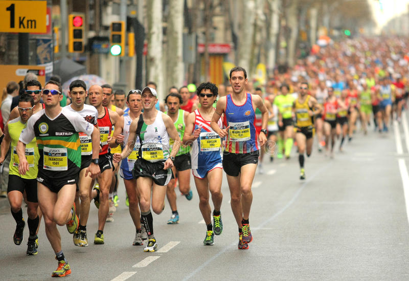 De Marathon van Barcelona royalty-vrije stock foto