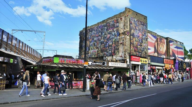 De Straat van Camden in Londen, het Verenigd Koninkrijk royalty-vrije stock afbeelding