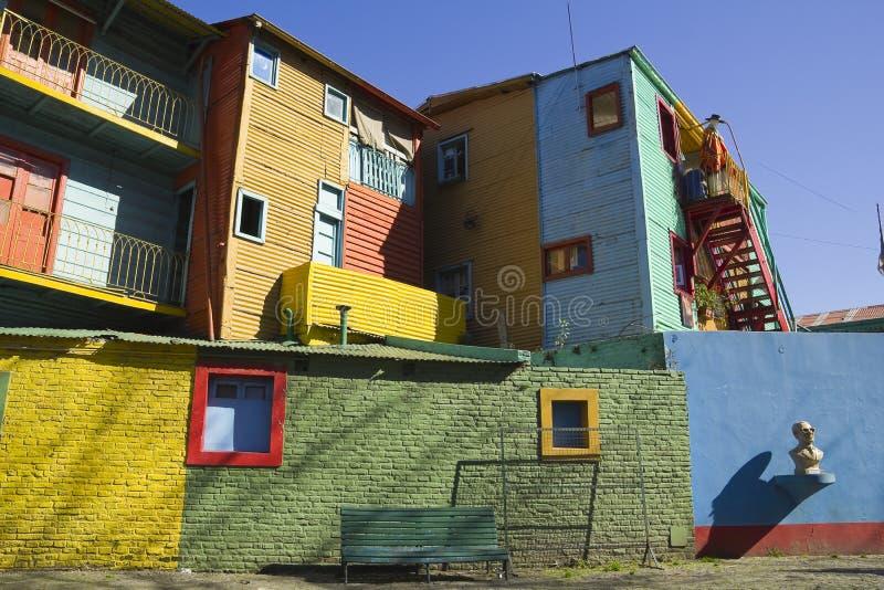 De straat van Caminito, Buenos aires stock foto's