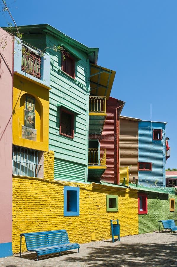 De straat van Caminito in Buenos aires, Argentinië royalty-vrije stock foto's