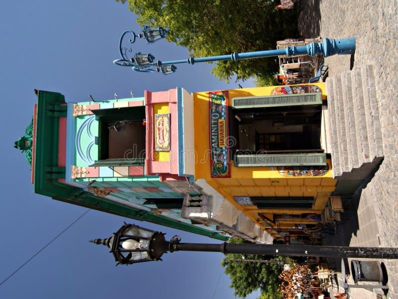 De Straat van Caminito in La Boca, Buenos stock afbeelding
