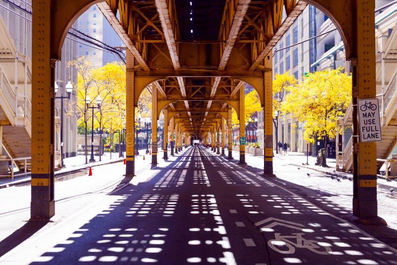 De Straat van Chicago stock afbeeldingen