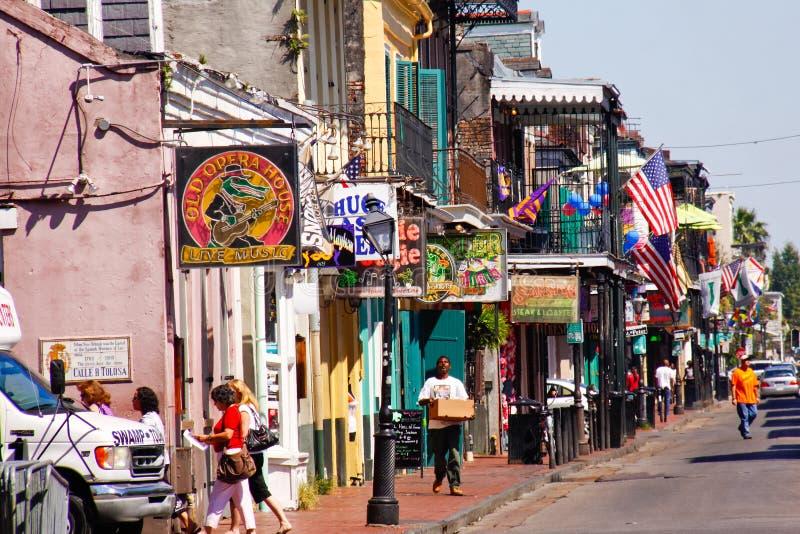 De Straat van de Bourbon van New Orleans in Daglicht royalty-vrije stock afbeelding