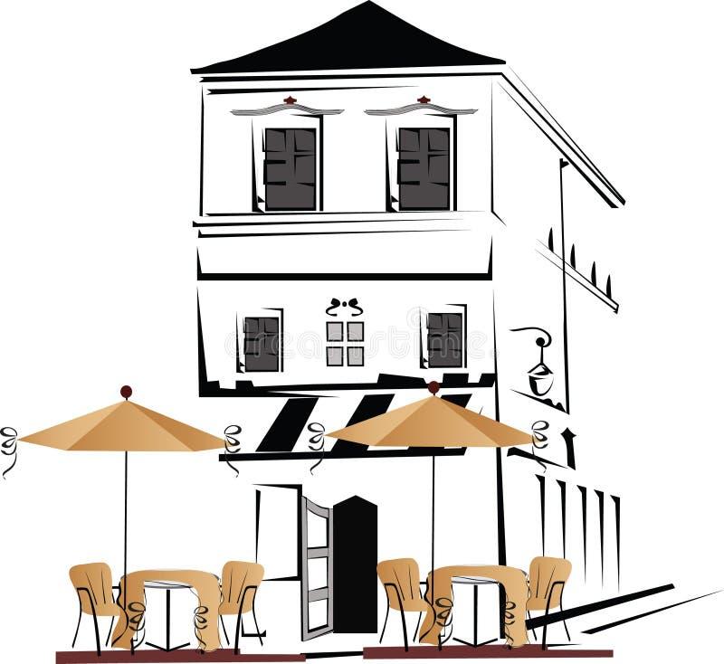 De straat van de koffie