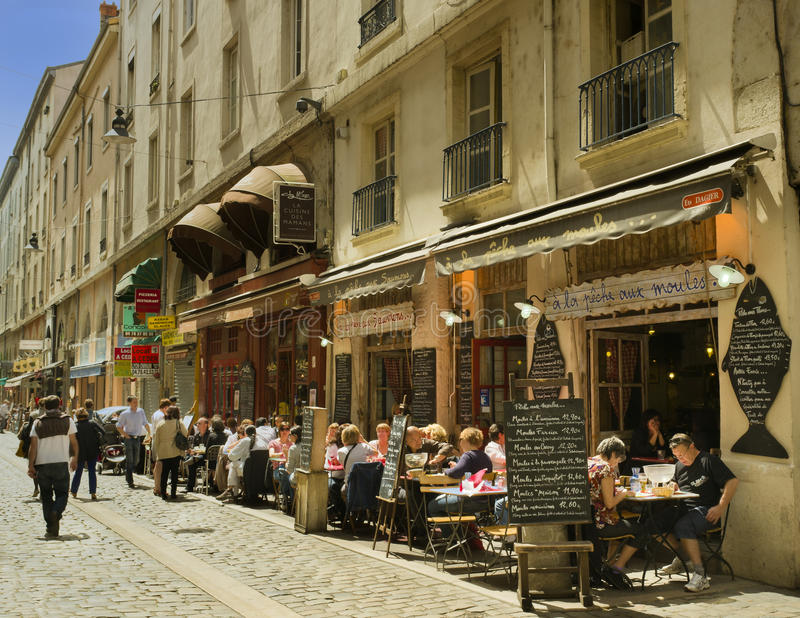 De Straat van de koffie, Lyon, Frankrijk