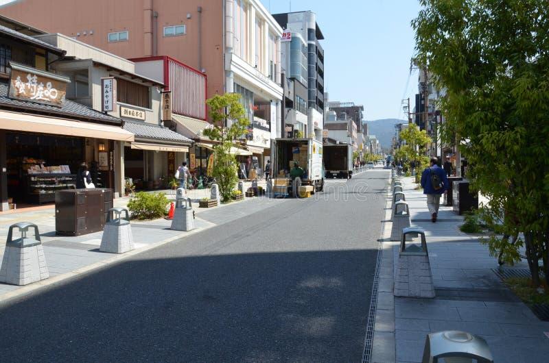 De straat van de sanjo-Doriweg royalty-vrije stock foto's